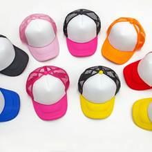 39304466 TRENDEAL 10pcs/Lot Kids Blank Trucker Hats Children Spring Two Tone Snapback  Hat Caps