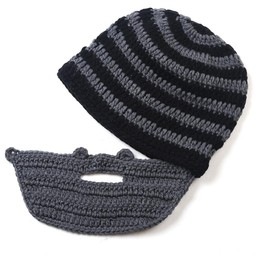 Excepcional Sombrero De Vikingo Ganchillo Y El Patrón De La Barba ...