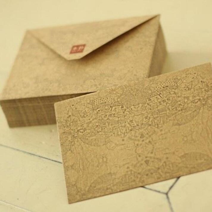 100pcs/lot 154X105mm New Vintage Dynasty Series Kraft Paper DIY Envelope Set Fancy Envelopes Kawaii Gift Stationary Wholesale