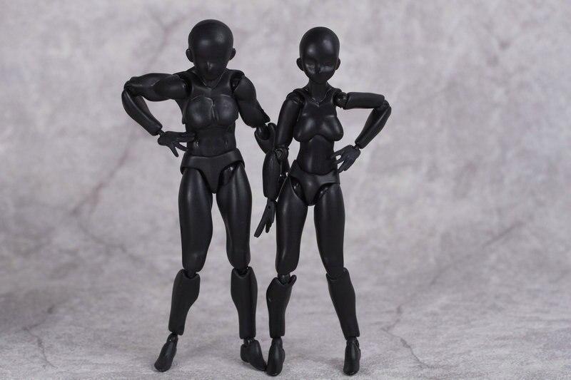 Горячая 13 см DIY Figma цифры Аниме Figma архетип она рисунок мужской женский игрушки ...