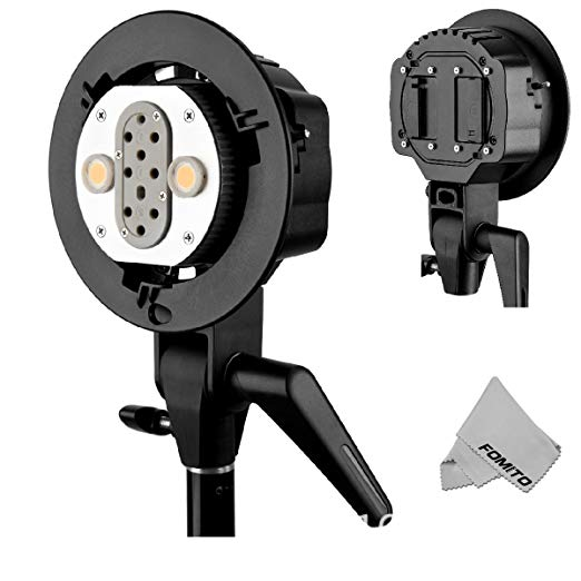 Godox AD-B2 Dual Power Twin Head Bowens Mount to Install 2 Godox AD200 Pocket Flash or Flashpoint eVOLV 200 TTL Modular Strobe Godox AD-B2 Dual Power Twin Head Bowens Mount to Install 2 Godox AD200 Pocket Flash or Flashpoint eVOLV 200 TTL Modular Strobe