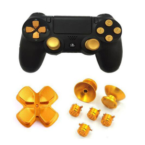 Image 2 - Metal Analog Joystick ThumbStick Grip Caps+Dpad Action D Pad Buttons for Sony Playstation Dualshock 4 PS4 DS4 Gamepad Controller
