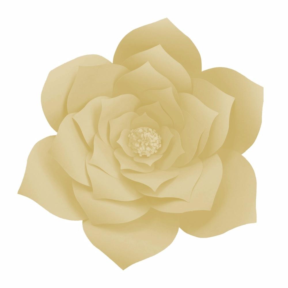 FENGRISE 2pcs 20cm Artificial Paper Flowers DIY Wedding Backdrop ...