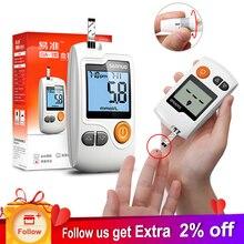 Sannuo Yizhun GA-3 глюкозы метр монитор для диабетиков глюкометр с глюкозой тесты полоски + ланцеты иглы для сахара в крови Тесты