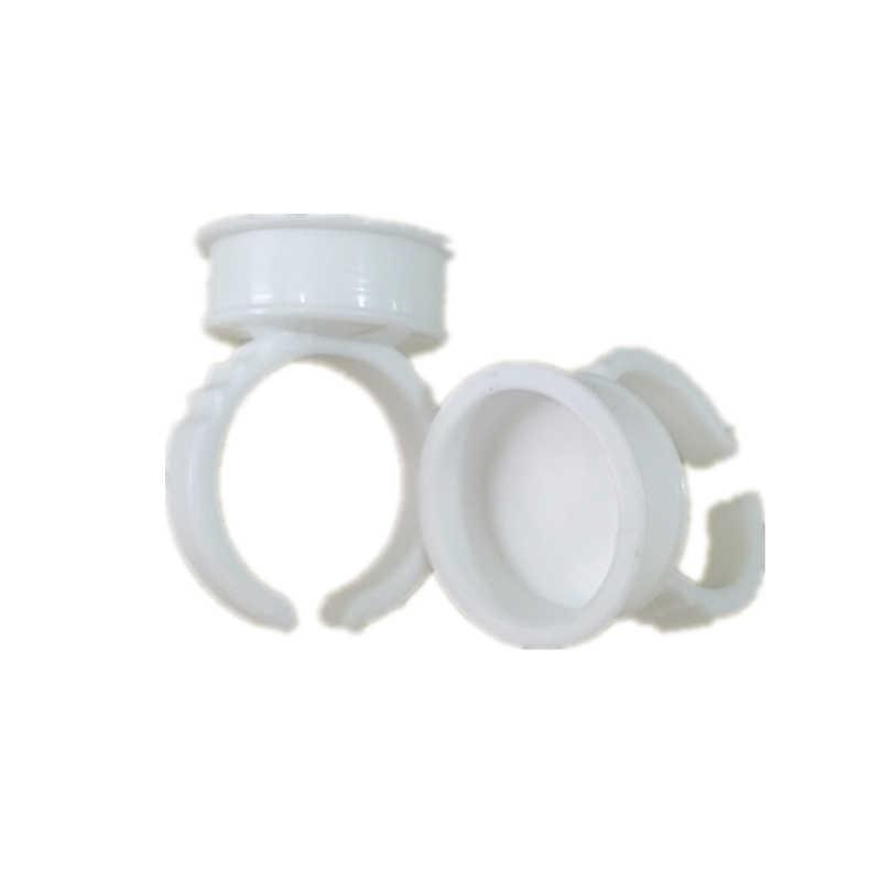 10 adet/20 adet kirpik uzatma tutkal halkaları yüksek kaliteli plastik tek kullanımlık yapıştırıcı kirpik palet tutucu dövme Pigment