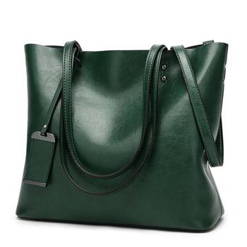 2020 nowy miękki lśniący połysk PU skórzana torebka damska torba na co dzień torebka marki zielono-brązowy duża pani torby na ramię Crossbody tanie i dobre opinie PASTE CN (pochodzenie) Mikrofibra Skóry Syntetycznej zipper SOFT Ił kieszeń Moda Large Handbag Women s Messenger bags