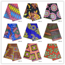 2019 Ankara African 100% Cotton Wax Prints Fabric Binta Real High Quality 6 yard for Party Dress 1306-11