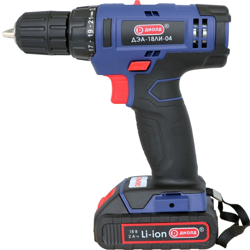 Drill-screwdriver rechargeable Diold ДЭА-18ЛИ-04 (2 speed, work light, reverse) electric drill screwdriver diold эш 0 56 2 power 560 w 2 speed reverse