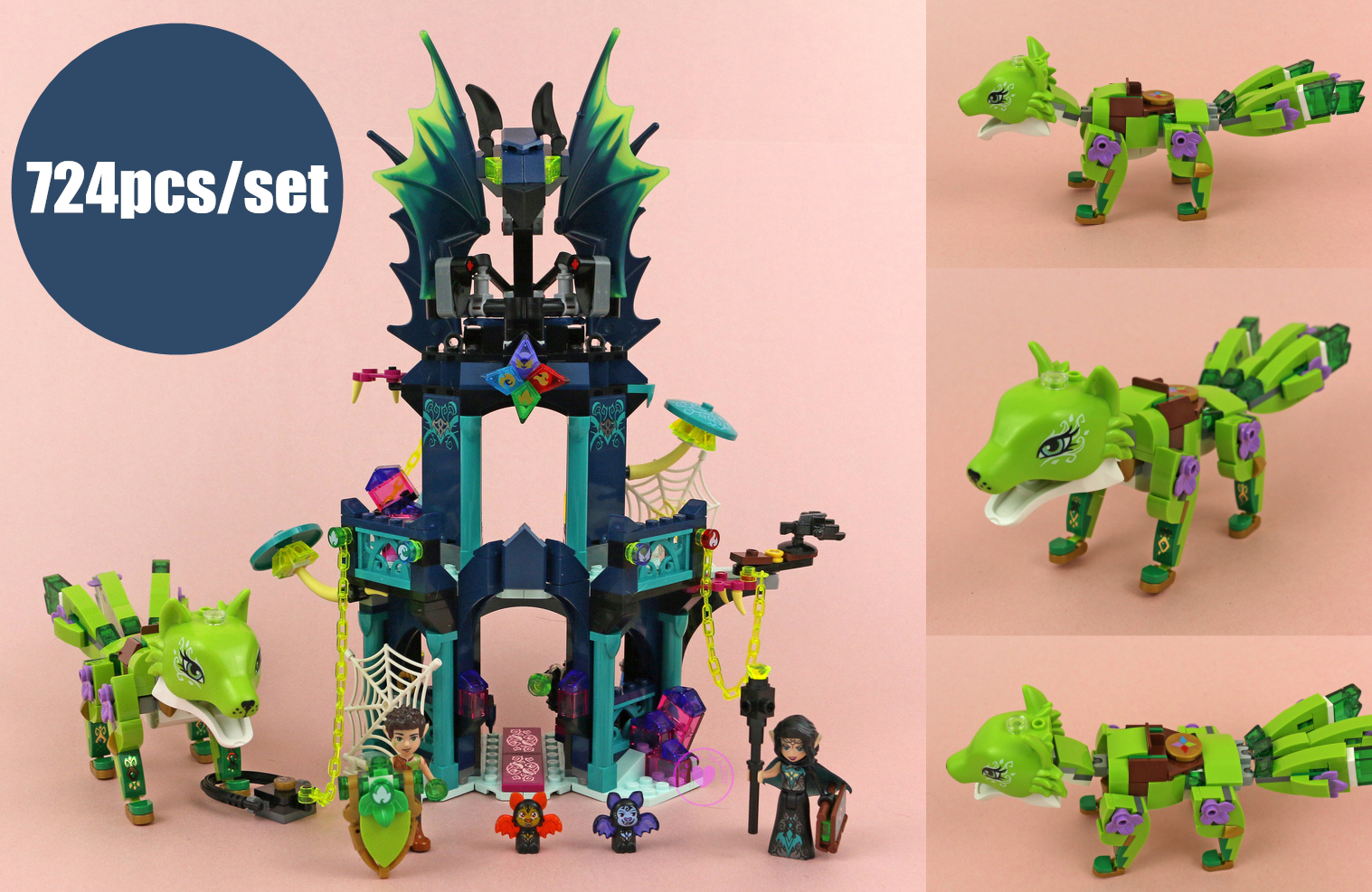 New Elves Noctura's Tower Earth Fox Rescue fit legoings elves fairy figures friends Building Block Bricks 41194 Toy kid gift toy 2018 new girl friends fairy elves dragon building blocks kit brick toys compatible legoes kid gift fairy elves girls birthday