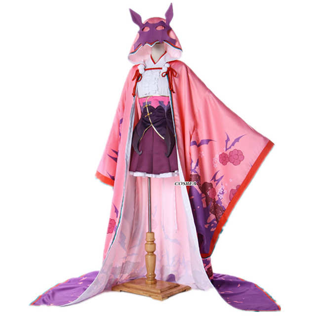 Online Shop COSREA FGO Fate Grand Order Anime Dress Cosplay Costume Summer  Long Pink Cloak Kimono Halloween Costumes For Women   Aliexpress Mobile