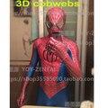 Linglong High Quality Custom Made Hero 3D Cobwebs Raimi Spider Man Costume For Halloween Raimi Spiderman Costume Adult Spandex