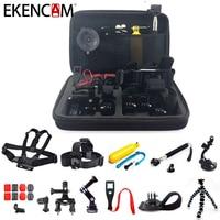 EKENCAM Accessories Head Strap Chest Strap Tripod Mount Bag For GoPro Hero 5 4 3 SJCAM