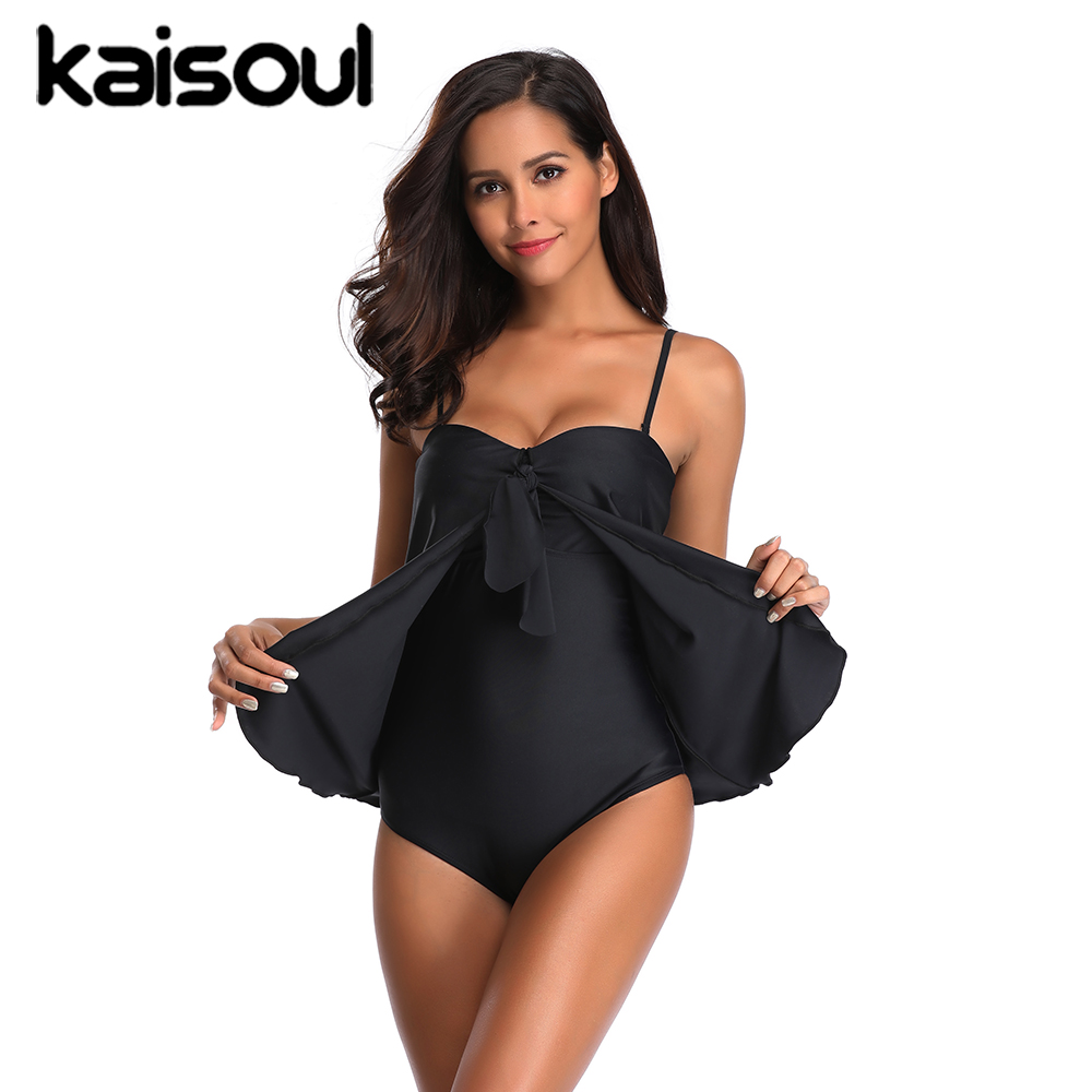 One Piece Black Swimsuit Tankini Women Swimming Beachwear Sexy Bikini Swimwear New Arrival Striped Vintage Push Up Padded in Body Suits from Sports Entertainment