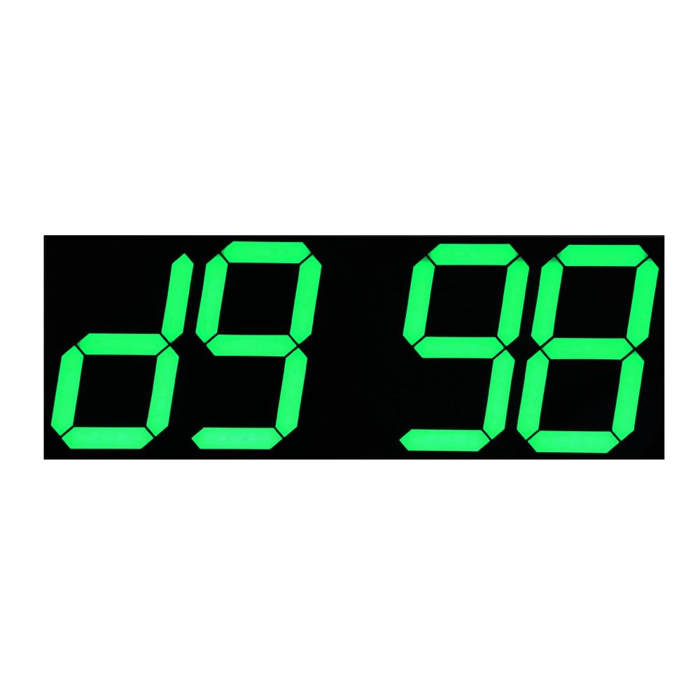 Yaşıl LED Təqvim Temperaturu Ekranı Uzaqdan İdarəetmə Sayı - Ev dekoru - Fotoqrafiya 5