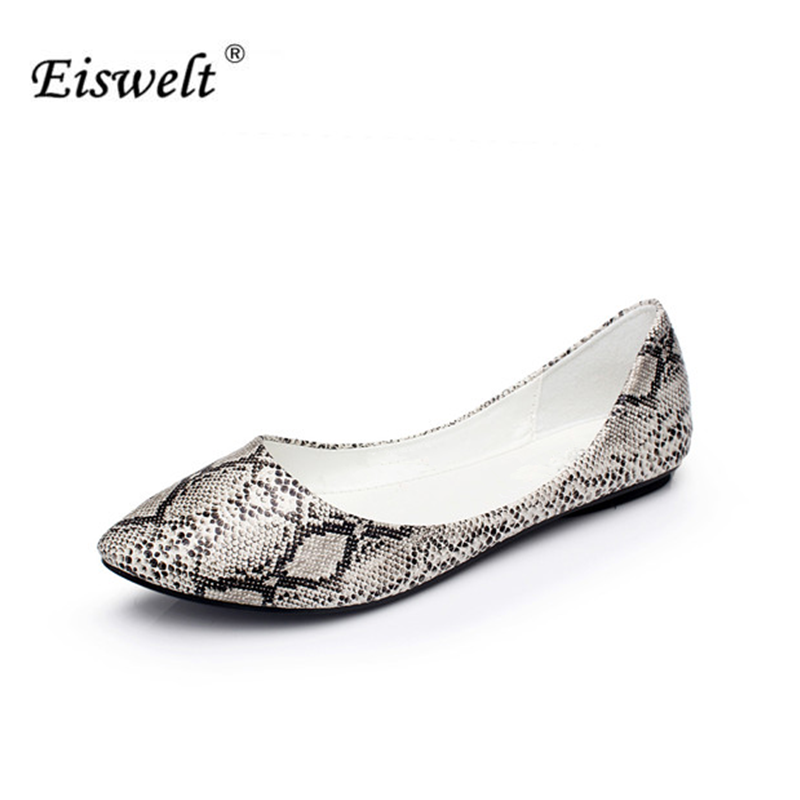 EISWELT New 2017 Spring Summer Women Flats Fashion Sex Flat Shoes Woman Casual Shoes Women Boat Shoes#ELQ7 eiswelt shoes spring summer fashion rivet flats party pointed flock women shoes wedding shoes glitter flat ladies shoes zjf84