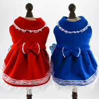 Princess Lace Clothing For Chihuahua Fleece Winter New Luxury Party Wedding Pets Dresses Goods For Animals