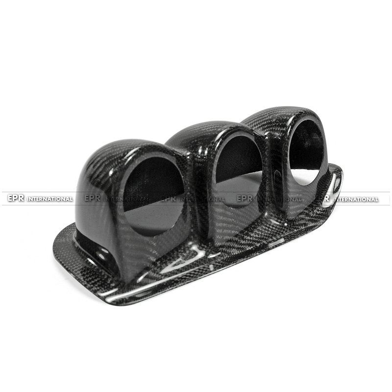 S14 Uras Type Dash Mount Triple Gauge Pod 60mm(RHD) CF(6)_1