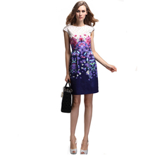 LIVA GIRL Brand Women Summer Dress High Quality Floral Print Short Sleeve Dress Casual Slim Women's Elegant Fashion Dresses