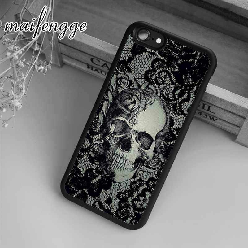 Maifengge Unieke Cover Case Calaveras Skull Case Voor Iphone 5 6 S 7 8 Plus 11 Pro X Xr Xs max Samsung Galaxy S6 S7 Rand S8 S9