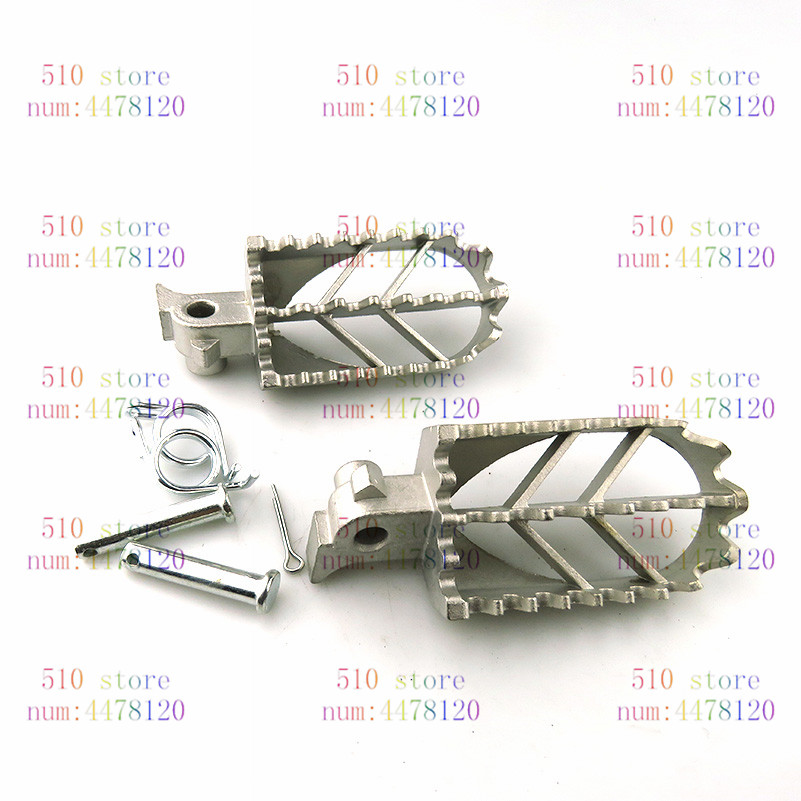 Motorcycle Billet MX Wide Foot Pegs Pedals Rest Footpegs For KTM SX SXF EXC EXCF XC XCF XCW XCFW SMC 65 85 125 150 200 <font><b>250</b></font> -530 image