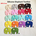 5PCS BPA Free Safe and Natual Silicone Elephant Teether Baby Pacifier Dummy Teething Chewable Pendant Nursing Necklace Jewelry