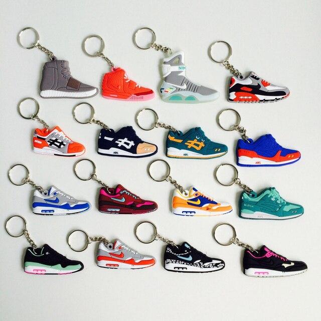 Mini Silicone Max 1 Keychain Bag Charm Woman Men Kids Key Ring Gifts Sneaker Key Holder Accessories Jordan Shoes Key Chain