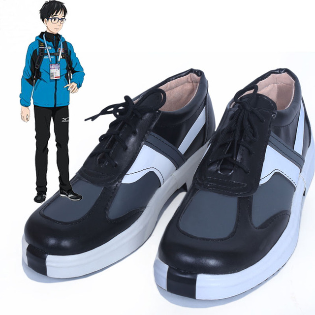 anime yuri on ice shoes carnival cosplay costume yuri katsuki halloween shoes for women men hand