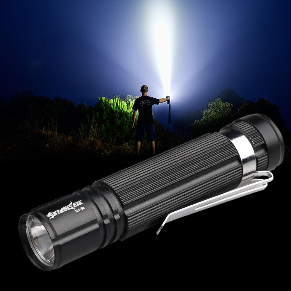 Q5 LED Flashlight 14500 AA Torch Lamp Camping Hiking Biking Light Black