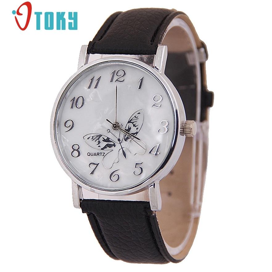 OTOKY women watches Fashion quartz-watch Women's clock relojes mujer dress ladies watch leather butterfly #40 Gift 1pc