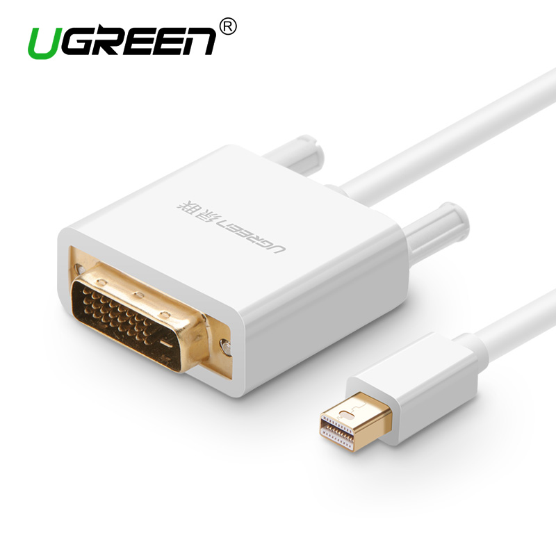 Ugreen Thunderbolt Mini Displayport DP to DVI 24+1 Adapter Cable Male to Male Mini DP to DVI-D Converter for TV Laptop Projector high quality displayport dp male to dvi female converter video adapter cable 1ft for pc laptop projector hdtv 25cm cable new