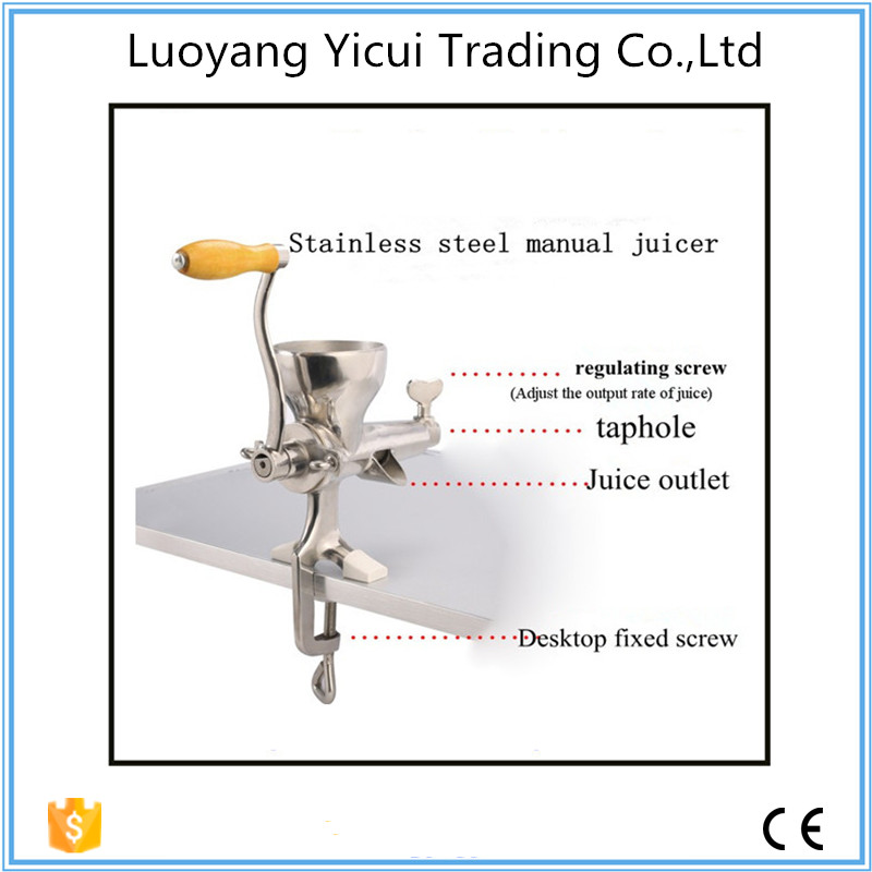 Popular Professional mini hand juicer machine with stainless steel material healthy mini manual juicer with good price