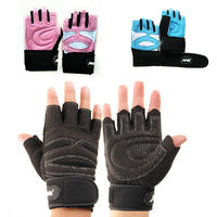 Women Weight Lifting Gym Gloves Workout Wrist Wrap Sports Exercise Fitness
