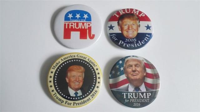 4pcs donald trump 2016 republican election president button pin