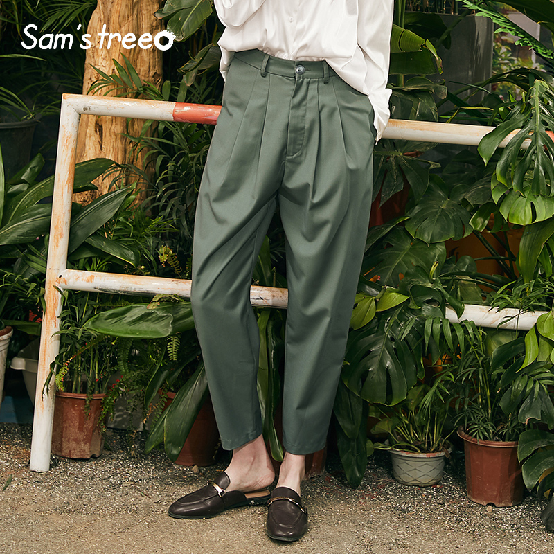 Stylish Casual Women Pants Solid Vintage Woman Trousers New High Waist Straight Ladies Pants Femme Pants in Pants amp Capris from Women 39 s Clothing