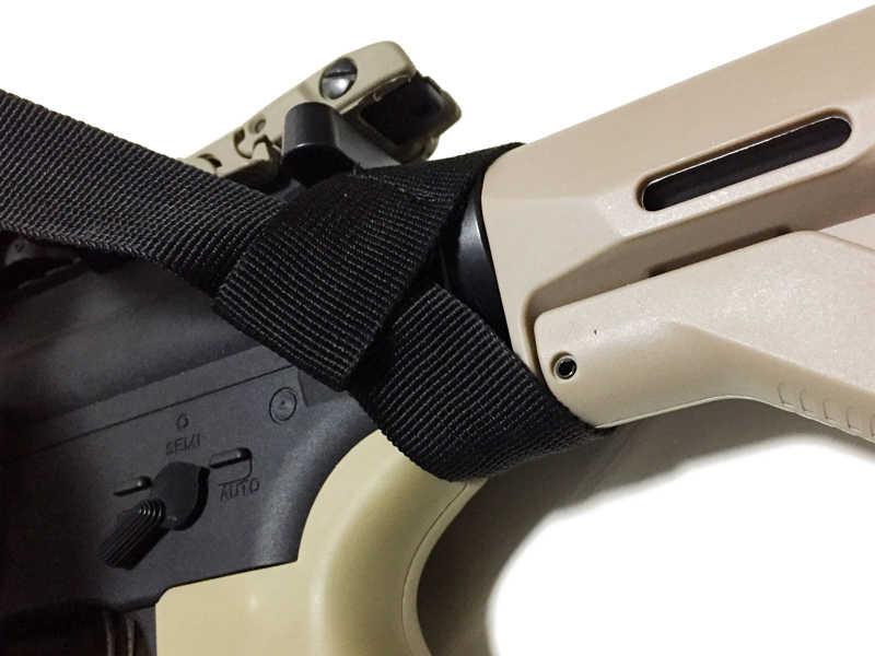 Armiyo 2 Ponto Amigo Alongamento-absorção de choque Nylon Gun Sling Caber Em Qualquer Rifle Airsoft Caça Tático Bolsas Acessórios