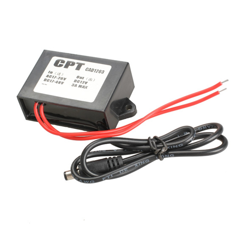 US $4 99 |Waterproof Car Power Converter AC 24V to DC 12V 3A Adapter for  CCD Camera/CCTV System/Gateway-in Car Inverters from Automobiles &
