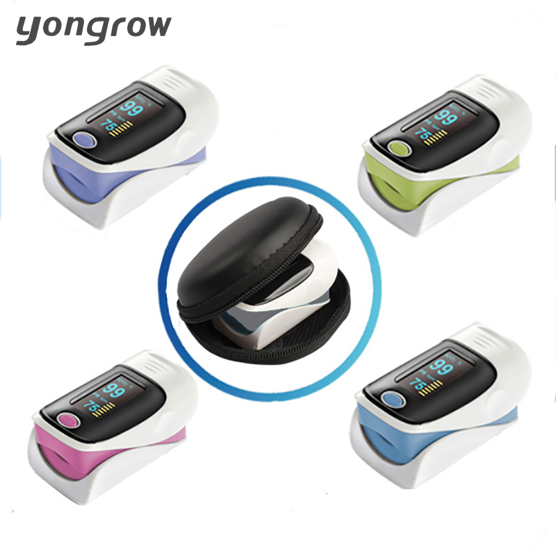 yongrow Pulsioximetro Fingertip Pulse Oximeter Oximetro De Pulso De Dedo SpO2 Saturation Meter Pulse Oximeter CE Approved