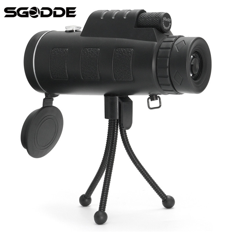 Hot Sale Outdoors 40X60 Zoom Optical Lens Telescope For Universal Mobile Phone+Tripod Clip Hunting Camping Day & Night Vision