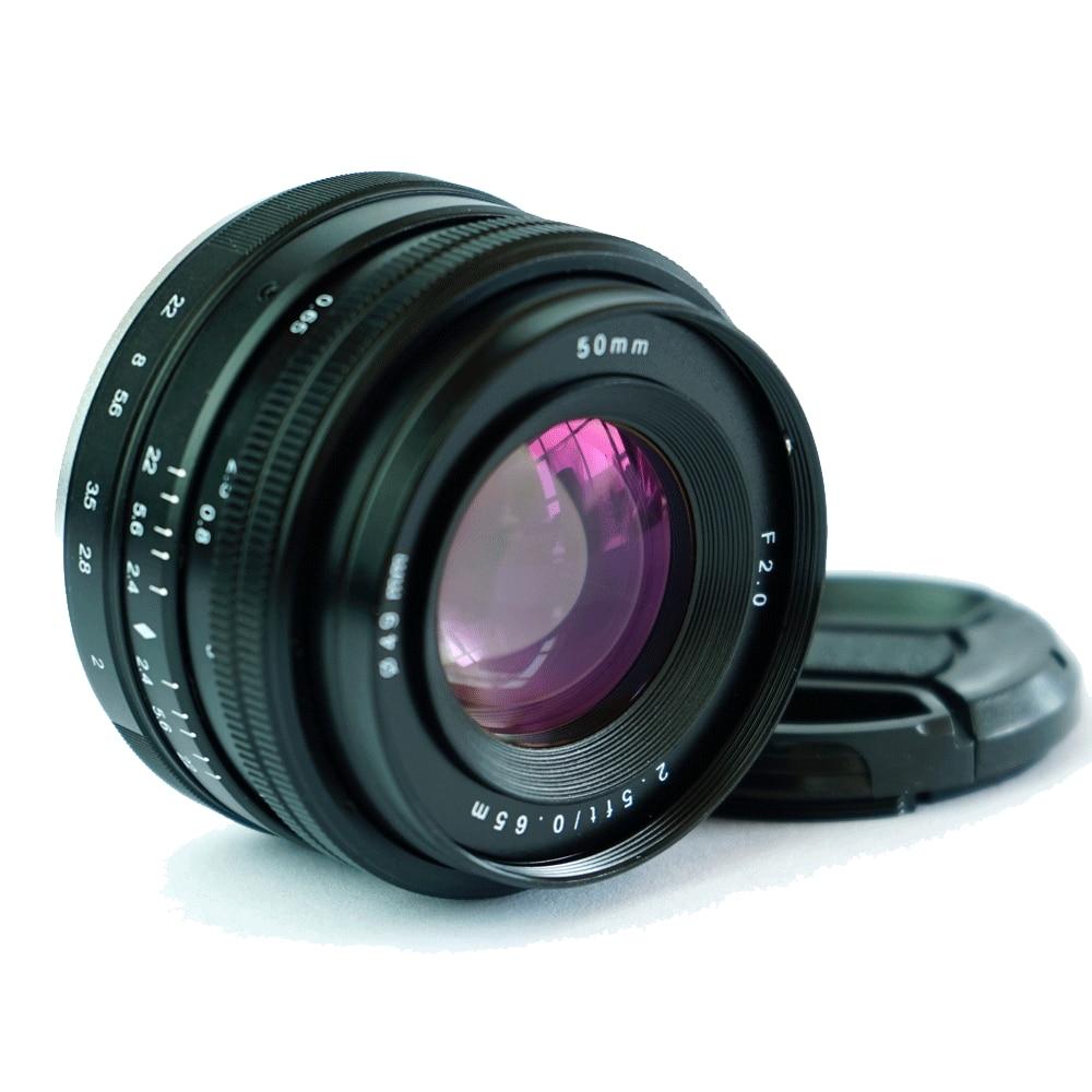 JINTU Pro 50mm f/2.0 f2 Manual Prime Lens for Sony E-mount APS-C Sony NEX3 NEX3N NEX5 NEX5T NEX5R NEX6 NEX7 A5000 A5100 Cameras фотоаппарат sony alpha a5100 kit e pz 16 50mm f 3 5 5 6 oss белый [ilce5100lw cec]
