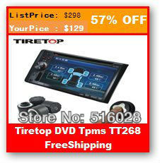 Tiretop TT268 TPMS Enternal Sensor,Integrate With All Auto DVD Car DVD Player GPS,Tire Pressure Monitoring System,Cost-effective