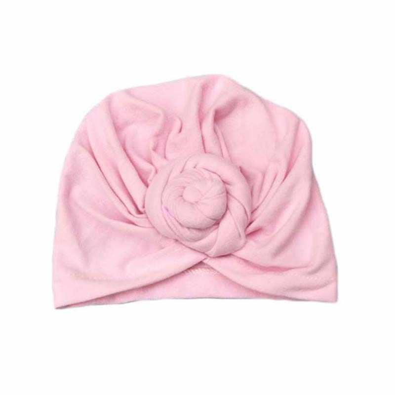 เด็กอินเดีย Beanie Turban เด็กผ้าฝ้ายนุ่ม Dount หมวกฤดูหนาวฤดูใบไม้ร่วงมุสลิม Knot หมวก Bohemian หมวก Headwear