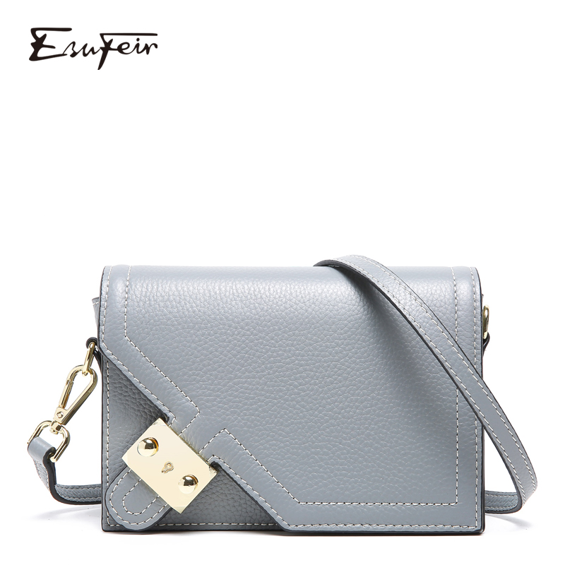 New Arrival Genuine Leather Women Crossbody Bag Famous Brand 2019 Leather Shoulder Bag Small Flap Women