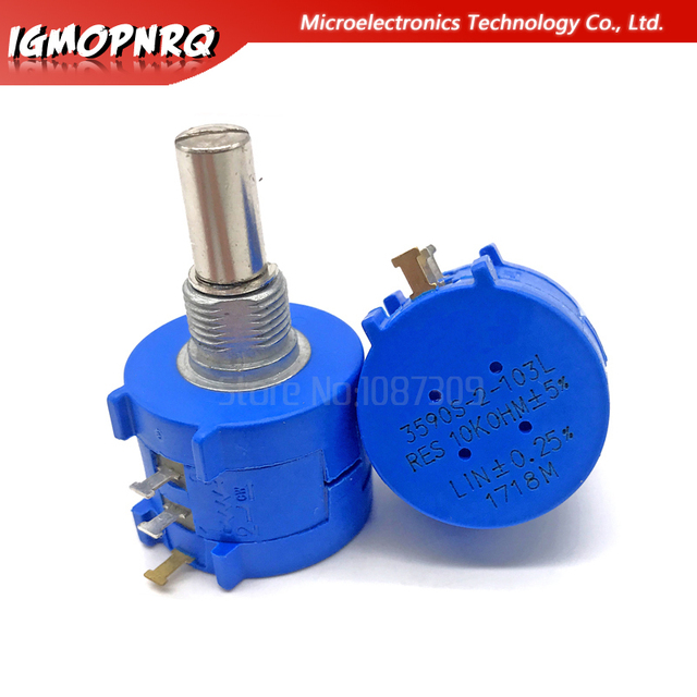 1PCS 3590S series potentiometer 500 1K 2K 5K 10K 20K 50K 100K ohm 3590S-2-103L 3590S 101 102 103 104 201 202 203 501 502 503 4