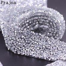 Prajna Glitter DIY Rhinestones Strass Crystal Chain Hot Fix Dress Rhinestone Motifs Ribbon Hot-Fix Patches Applique D