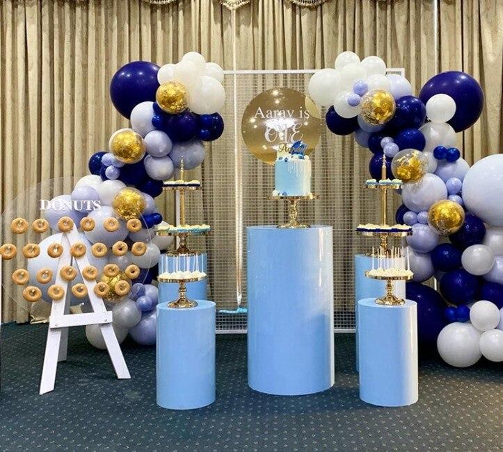 Grande cilindro de metal Pilar display stand rack para bolo De Casamento flor artesanato alimentar pedestal colunas para chá de bebê aniversário adereços