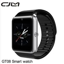 Bluetooth Smart Watch GT08 Camera Android SmartWatch MP3 Player Montre Connecte Support SIM Card Watch PK GV18 DZ09 U8(China)