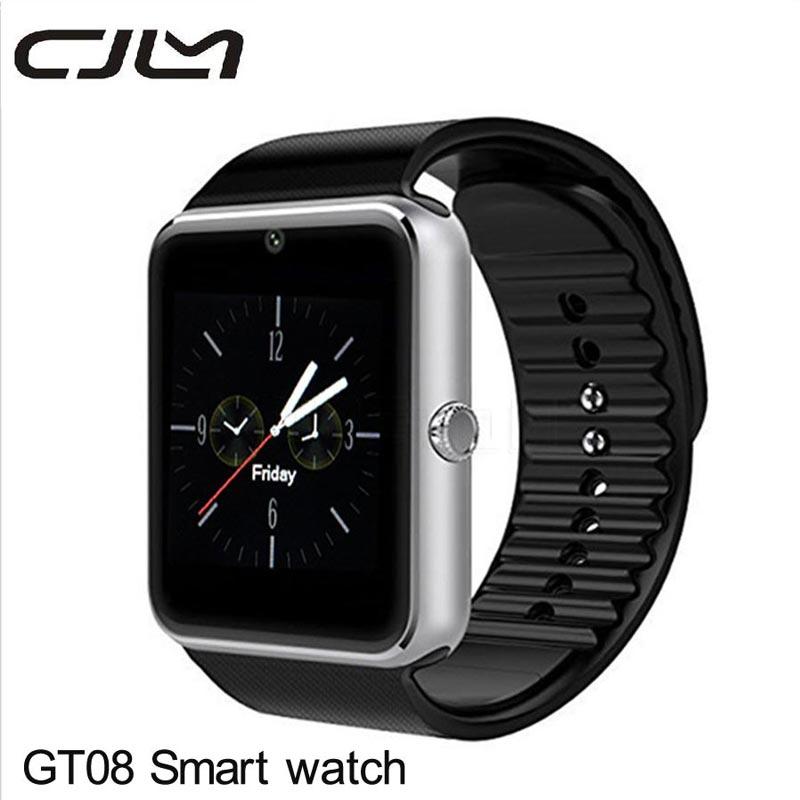 imágenes para Bluetooth smart watch gt08 cámara smartwatch android reproductor de mp3 soporte de tarjeta sim reloj montre connecte pk gv18 dz09 u8