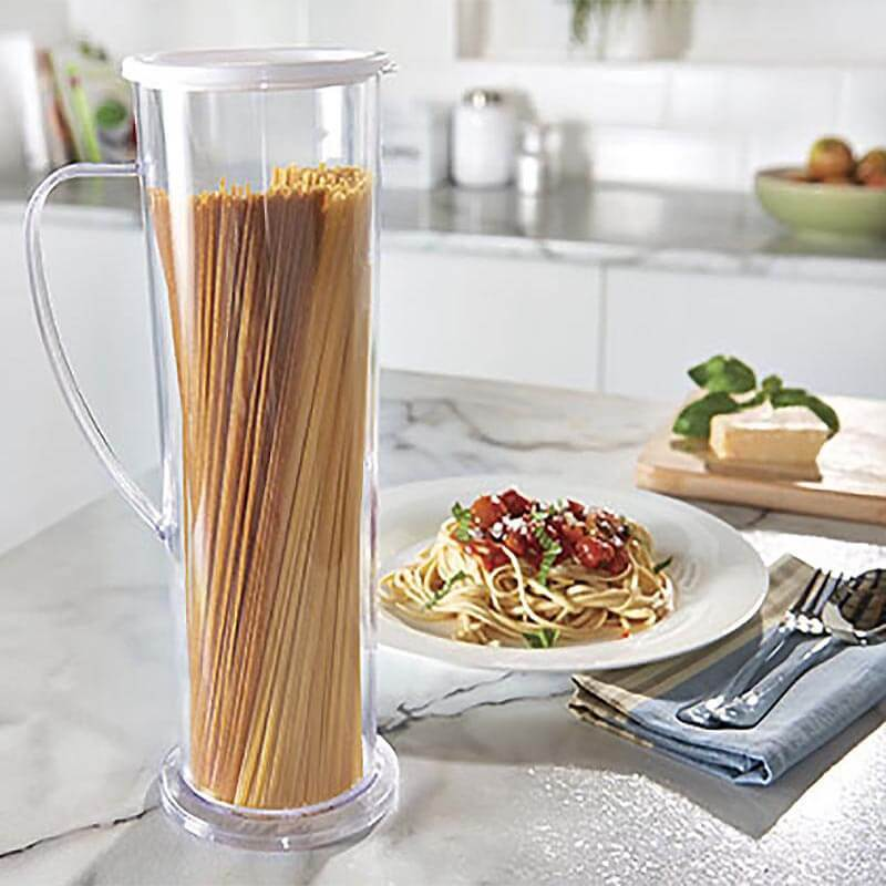 Sweettreats nueva llegada Pasta expresar taza tubo Fabricación de espagueti cocineros contenedor tubo rápido Pasta cocinar