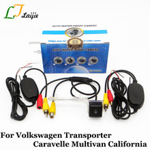 Para Volkswagen VW Transporter Caravelle Multivan T5 California/Inalámbrica Visión Nocturna de HD Retrovisor Del Coche de Respaldo Cámara/RCA AUX