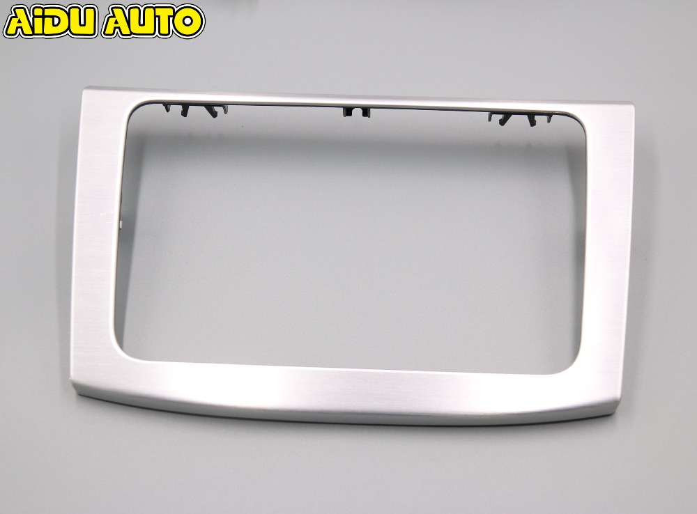 FOR VW PASSAT CC PASSAT B6 CD RADIO BEZEL TRIM BRUSHED ALUMINUM BEZEL NAVIGATION 3C0 858 069 AH 20V car data can bus gateway diagnosis interface for volkswagen vw passat b6 cc 3c0 907 530 l